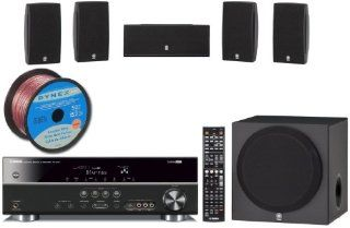 "Yamaha Consumer Surround Realism 3D Ready Home Theater System with 5.1 channel 500 Watt AV Receiver + 4 Surround Satellite Speakers + 1 Center Channel Speaker + 1 Front Firing 100W Powered 8"" Active Subwoofer (Speaker Wire Included): Electronics"
