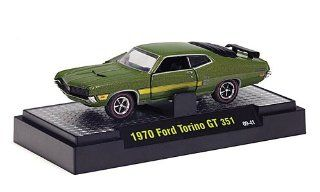 Ford Torino GT 351, met. green , 1970, Model Car, Ready made, M2 Machines 1:64: M2 Machines: Toys & Games