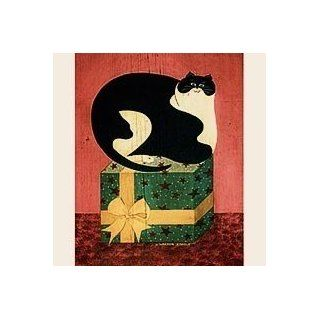 CAT ON BOX   21 Christmas Cards by LANG, Art by Warren Kimble: Health & Personal Care