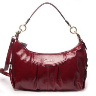 COACH Authentic Ashley Patent Leather Convertible Hobo in Crimson Red, Handbag, Ladies Purse, MSRP $358 Clothing