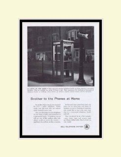 """1955 Bell Telephone System """"Brother to the Phones at home"""" Vintage Ad"""