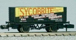 Graham Farish N Scale 373 180 7 Plank Wagon 'Sycobrite' Toys & Games
