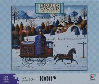Charles Wysocki Americana Series 1000 Piece Jigsaw Puzzle   Promises, Promises Toys & Games