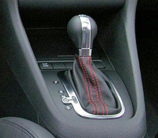DSG Shift Knob and Boot with Red Stitching for Jetta, Golf, GTI Automotive