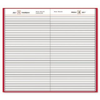 AT A GLANCE Standard Diary, Business Daily, Tel/Expense, 2011, 8 3/16 x 13 Inches 7/16, Red Vinyl Cover (SD381 72)  Appointment Books And Planners