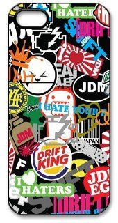 JDM Sticker Bomb Hard Case for Apple Iphone 5/5S Caseiphone 5 385: Cell Phones & Accessories