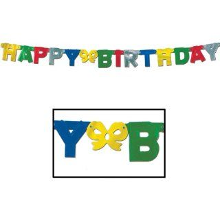 Beistle   55037   Foil Happy Birthday Streamer  Pack of 12: Toys & Games