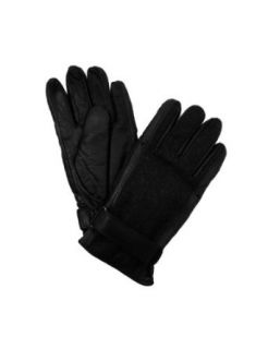 Isotoner Men's Thinsulate Lined Leather Gloves with Wool Back  Black   Size XL at  Men�s Clothing store
