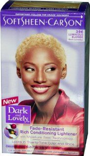 Dark and Lovely Reviving Colors   #396 Hair Color   Luminous Blonde Kit (Pack of 6) Health & Personal Care