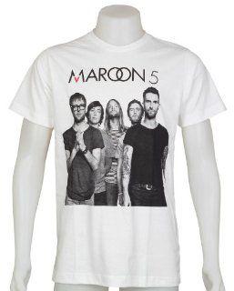 Maroon 5 T Shirt Size Large Adam James Jesse Mickey Matt Ryan New White Tee: Everything Else