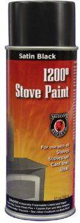 MEECO'S RED DEVIL 405 Spray Paint, Satin Black   Wood Stove Paint