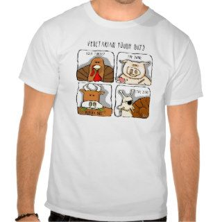 Funny Vegetarian Tough Guys Animals T Shirts