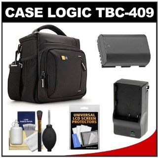 Case Logic TBC 409 Digital SLR Camera Shoulder Case (Black) with LP E6 Battery & Charger + Accessory Kit for Canon EOS 60D, 6D, 7D, 5D Mark II III: CASE LOGIC: Camera & Photo