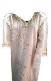 Cool Kaftans BN MARWA Cream Abaya Jilbab Kaftan Caftan Dress 16 18 M Cool Kaftans: Clothing