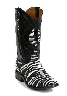Black Jack Zebra Print Stingray Cowboy Boots Shoes