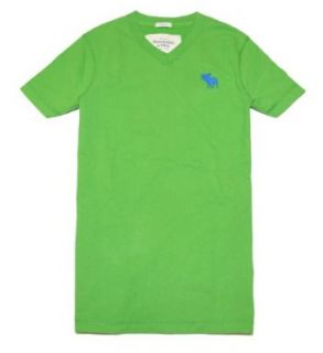 Abercrombie & Fitch Men Moose Logo Short Sleeve V Neck T Shirt (S, Green) at  Men�s Clothing store