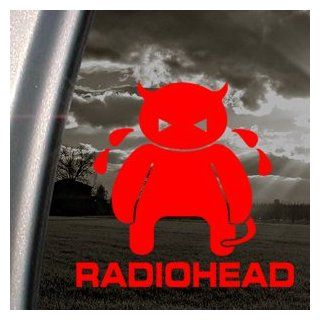RADIOHEAD Red Decal CRYING MINOTAUR AMNESIAC ALBUM Red Sticker   Themed Classroom Displays And Decoration