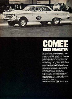 1964 Ad Ford Mercury Comet Boss Dragster 2 Door Compact Car Coupe 427 V8 Engine   Original Print Ad