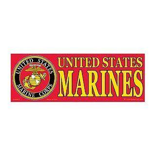 US Military Armed Forces Bumper Sticker   USMC Marines   United States Marine Corps Seal Logo: Automotive