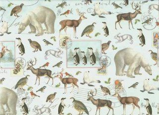 Winter Animals Christmas Gift Wrap Paper Health & Personal Care