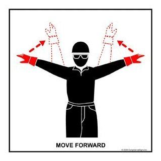 Move Forward Label CRANE 432 Crane Hand Signals: Office Products