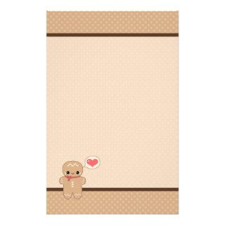 Cute Gingerbread Man Custom Stationery
