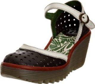 Fly London Women's Black/White/Red Ying 42 B(M) EU Shoes