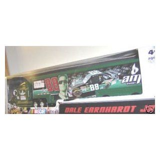 Dale Earnhardt Jr #88 AMP Black Green Stripes Energy Paint Scheme Hauler Trailer Semi Tractor Trailer Truck Rig Transporter 1/64 Scale Winners Circle Edition: Toys & Games