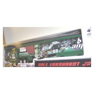Dale Earnhardt Jr #88 AMP Black Green Stripes Energy Paint Scheme Hauler Trailer Semi Tractor Trailer Truck Rig Transporter 1/64 Scale Winners Circle Edition Toys & Games