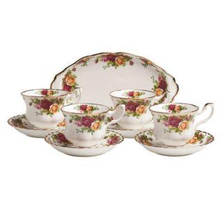Royal Albert Old Country Roses Tea Set (Set of 9)