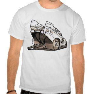 Drag Racing Funny Car Caricature Tshirt