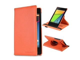 Fosmon GYRE Series Revolving Leather Case with Stylus Slot and Sleep / Wake function for Google Nexus 7 FHD (2nd Generation, 2013)
