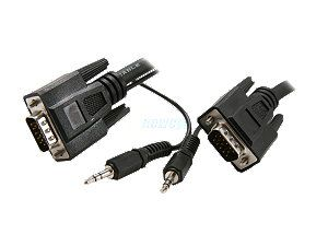 Rosewill 10 ft. VGA / SVGA Male to Male Cable w/ 3.5mm Stereo Audio Cable Model RCW H9022