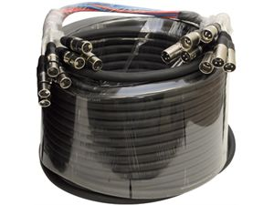 Seismic Audio   8 Channel XLR Snake Cable 100 Foot Pro Audio Colored Snake Cable