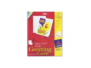 Avery                                    Personal Creations Printable Quarter Fold Cards, 4 1/4 x 5 1/2, 20/Pack