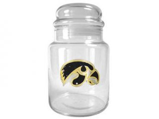 Iowa Hawkeyes   31oz Glass Candy Jar   Primary Logo