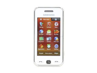 Samsung Star S5230 White Unlocked GSM Touch Screen Phone with 3.2MP Camera / 10 Hours Talk Time / Bluetooth 2.1