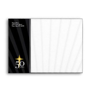 Customizable 50 Year Church Anniversary Envelopes