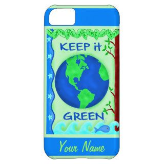 Keep It Green Save Earth Environment Art Custom iPhone 5C Case