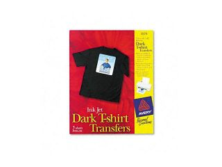 Avery Personal Creations Inkjet Dark T Shirt Transfers, Iron On, White, 5 Sheets/Pack
