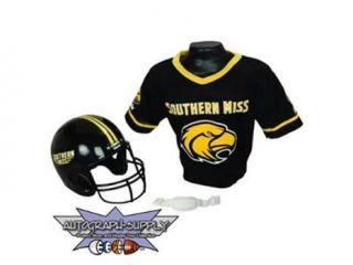 Southern Miss Golden Eagles NCAA Football Helmet and Jersey Set