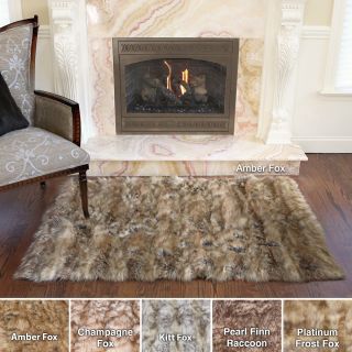 Wild Mannered Luxury Long Faux Fur Rug (34 X 410)