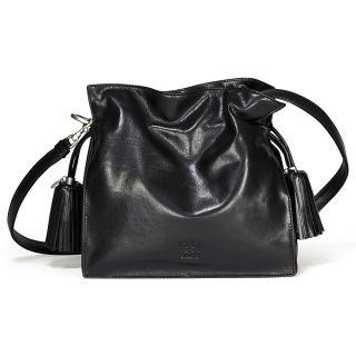 product l o loewe flamenco 22 black leather drawstring handbag 359 22
