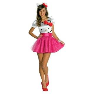 Hello Kitty Hello Kitty Tutu Dress Teen Costume (As Shown;One Size)