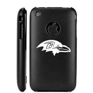 Apple iPhone 3G 3GS Black Aluminum Metal Case Baltimore Ravens